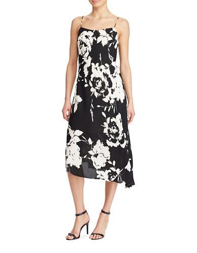 Lauren Ralph Lauren Floral-Print Crepe Slip Dress-BLACK/CREAM-4