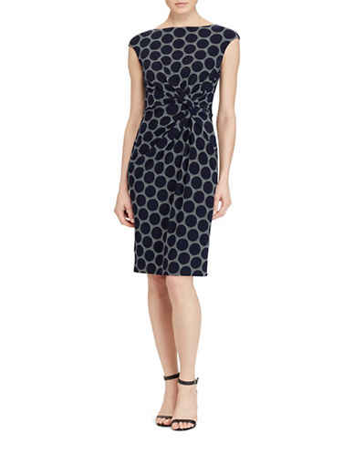 Lauren Ralph Lauren Geometric-Print Jersey Sheath Dress-BLUE MULTI-4