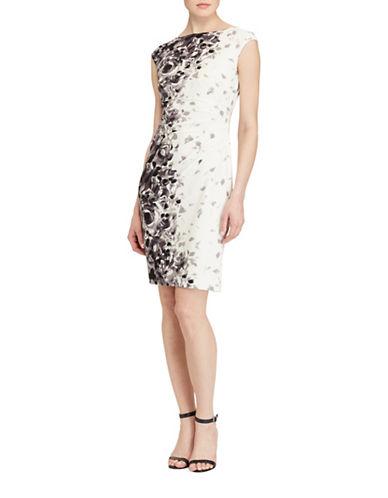Lauren Ralph Lauren Floral-Print Jersey Sheath Dress-MULTI-16