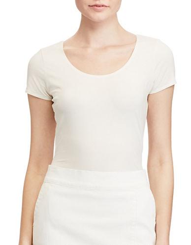 Lauren Ralph Lauren Kulvin Stretch Tee-WHITE-X-Large 89133815_WHITE_X-Large
