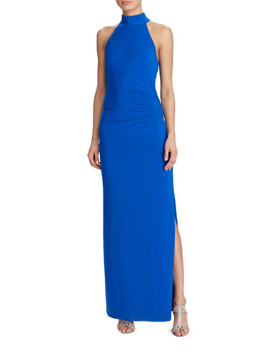 Lauren Ralph Lauren Jersey Open Back Gown-BLUE-16