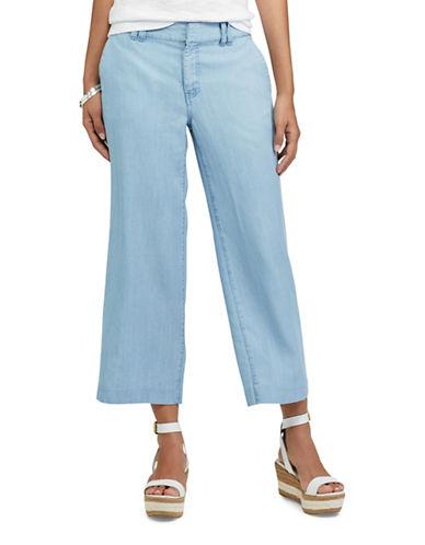 Chaps Wide-Leg Capri Pants-BLUE-8
