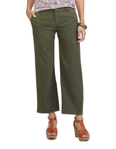 Chaps Wide-Leg Capri Pant-GREEN-10