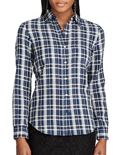 Chaps Plaid Cotton Shirt-MULTI-Small