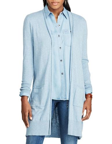 Chaps Petite Open-Front Cardigan-BLUE-Petite Large