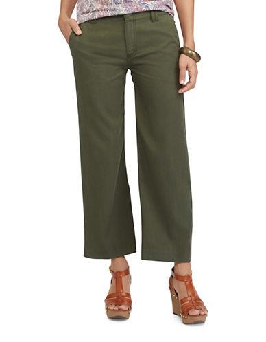 Chaps Petite Wide-Leg Capri Pants-GREEN-Petite 10