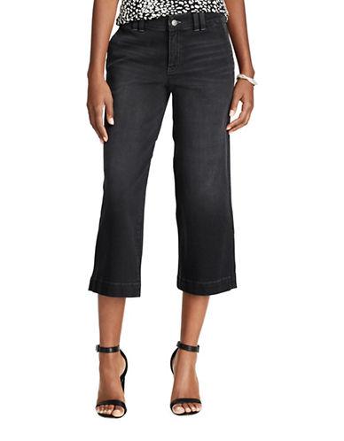 Chaps Petite Mid-Rise Capri Jeans-GREY-Petite 6