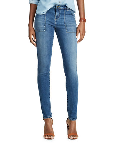 Chaps Petite Super-Stretch Jeans-BLUE-Petite 14