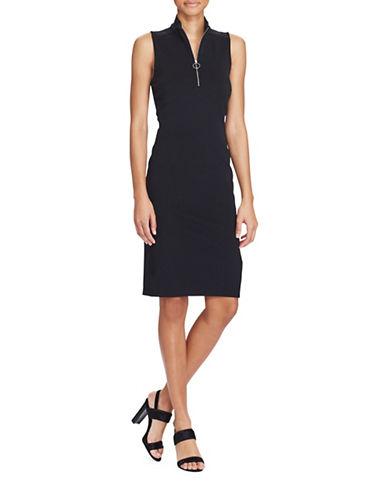 Lauren Ralph Lauren Pique Sleeveless Knee-Length Dress-POLO BLACK-Medium 89345267_POLO BLACK_Medium