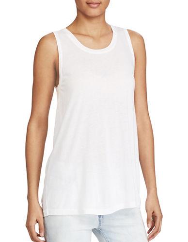 Lauren Ralph Lauren Jersey Scoop Neck Top-WHITE-Medium 89208950_WHITE_Medium