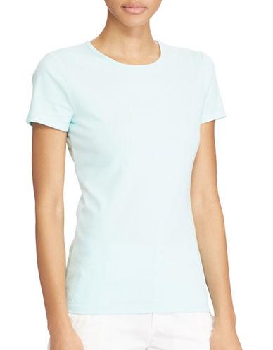 Lauren Ralph Lauren Stretch Cotton Knit Tee-BLUE-X-Large 89208957_BLUE_X-Large