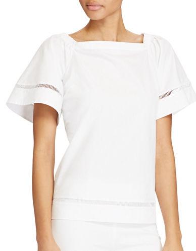 Lauren Ralph Lauren Cotton Off-the-Shoulder Top-WHITE-Medium 89208965_WHITE_Medium