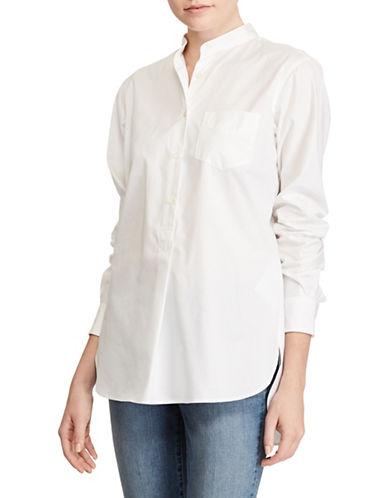 Lauren Ralph Lauren Cotton Poplin Tunic-WHITE-Large 89208969_WHITE_Large
