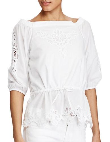 Lauren Ralph Lauren Eyelet Off-the-Shoulder Top-WHITE-Medium 89208995_WHITE_Medium