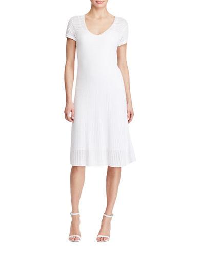 Lauren Ralph Lauren Cotton-Blend Sweater Dress-WHITE-Large 89209004_WHITE_Large
