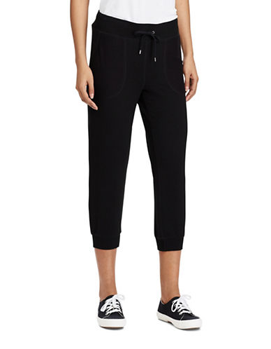 Lauren Ralph Lauren Cropped Skinny Sweatpants-BLACK-X-Small 89209053_BLACK_X-Small