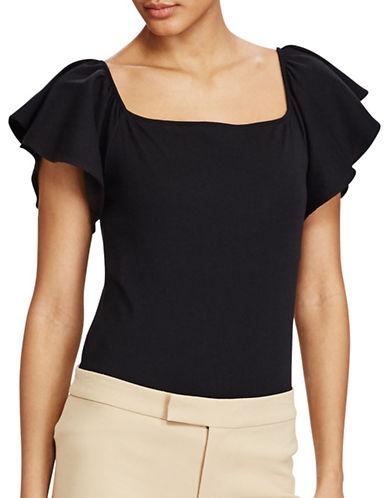 Lauren Ralph Lauren Jersey Off-the-Shoulder Top-BLACK-X-Small 89209288_BLACK_X-Small