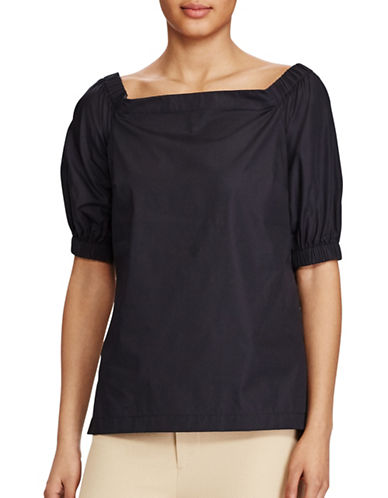 Lauren Ralph Lauren Cotton Off-the-Shoulder Top-BLACK-Medium 89209305_BLACK_Medium