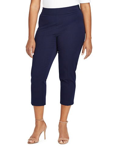 Lauren Ralph Lauren Plus Stretch Twill Skinny Pant-BLUE-16W