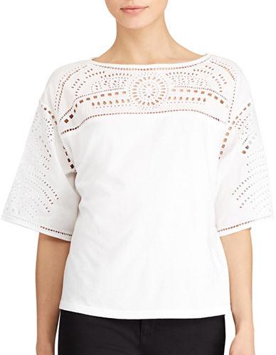 Lauren Ralph Lauren Plus Eyelet-Embroidered Top-WHITE-3X 89160866_WHITE_3X
