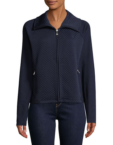 Lauren Ralph Lauren Zeyne Jacket-NAVY-X-Small