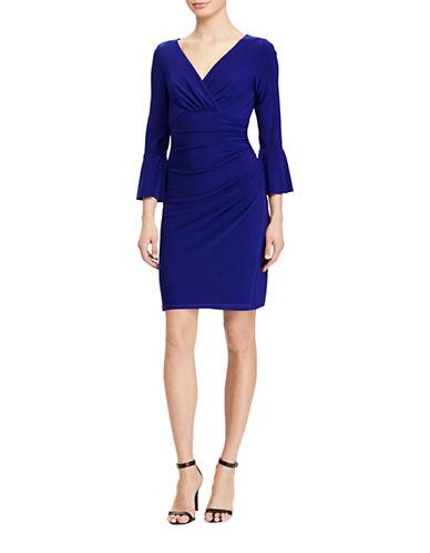 Lauren Ralph Lauren Jersey Surplice Sheath Dress-CANNES BLUE-12