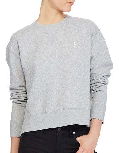 Polo Ralph Lauren Fleece Crew Neck Sweatshirt-GREY-Medium 89331459_GREY_Medium