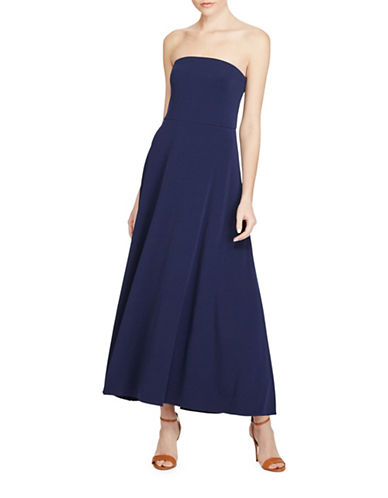 Polo Ralph Lauren Strapless Jersey Maxi Dress-NAVY-Large