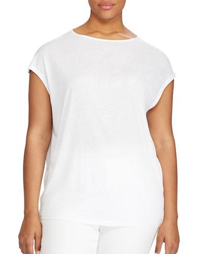 Lauren Ralph Lauren Plus Dolman Jersey Tee-WHITE-2X 89160858_WHITE_2X