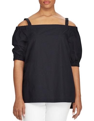 Lauren Ralph Lauren Plus Cotton Off-the-Shoulder Top-BLACK-2X 89160939_BLACK_2X