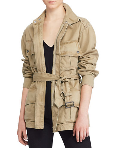 Polo Ralph Lauren Pima Cotton Twill Jacket-BEIGE-Medium