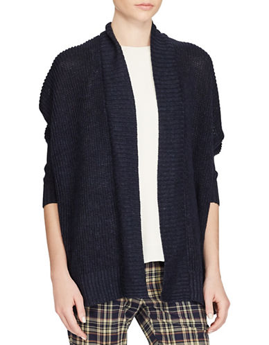 Polo Ralph Lauren Linen Open-Front Cardigan-INDIGO-Medium
