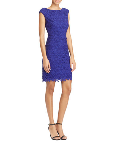 Lauren Ralph Lauren Slim-Fit Floral Lace Sheath Dress-DAME/PURPLE-8