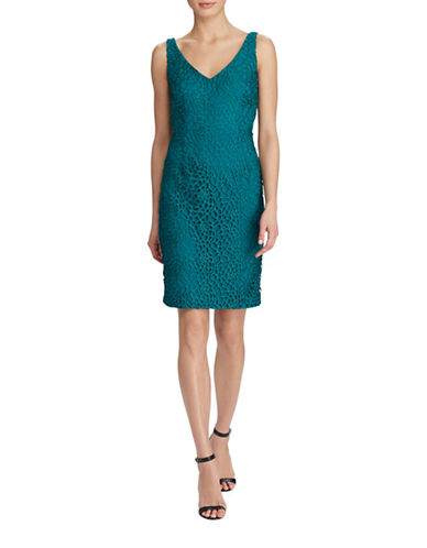 Lauren Ralph Lauren Crocheted Lace Dress-GREEN-0