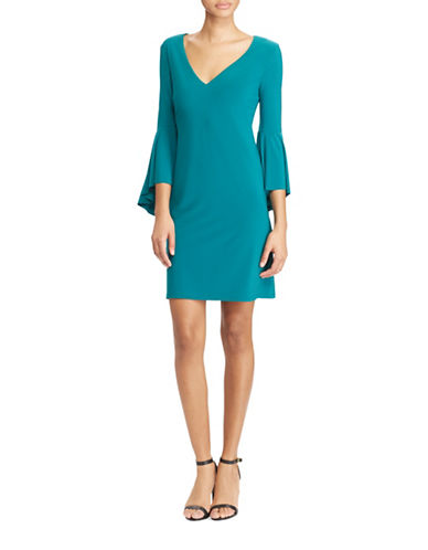 Lauren Ralph Lauren Slim-Fit Flounce-Sleeve Jersey Dress-EMERALD GREEN-6
