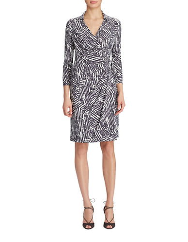 Lauren Ralph Lauren Geometric-Print Wrap Dress-SLATE MULTI-4