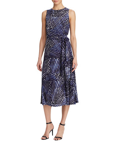 Lauren Ralph Lauren Printed Jersey Dress-LIGHT BLUE MULTI-10