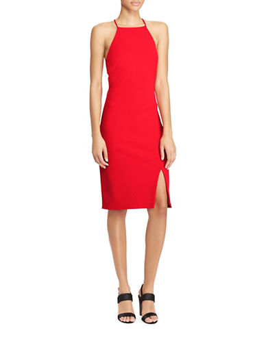 Lauren Ralph Lauren Ruffle-Back Jersey Dress-RED-14