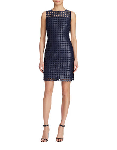 Lauren Ralph Lauren Geometric Lace Dress-NAVY-12