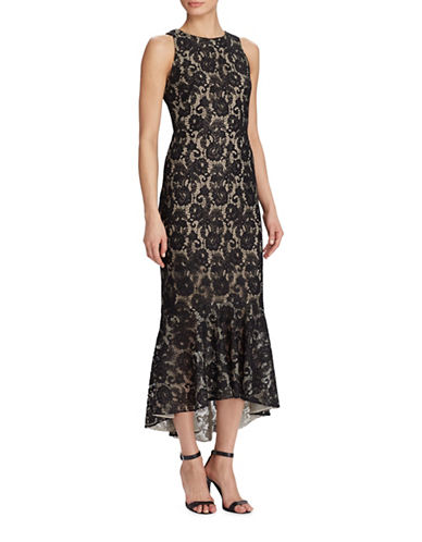 Lauren Ralph Lauren Floral Lace Dress-BLACK-6