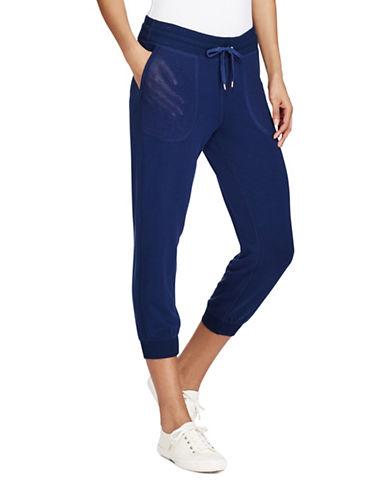 Lauren Ralph Lauren Cropped Skinny Sweatpants-INDIGO-X-Large