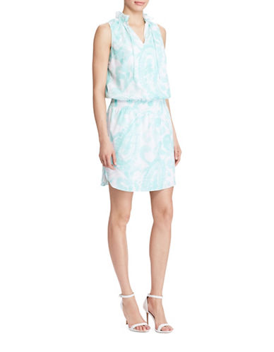 Lauren Ralph Lauren Paisley Print Sleeveless Dress-MULTI-Medium