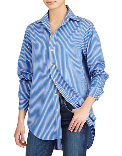 Polo Ralph Lauren Striped Cotton Tunic-BLUE-2