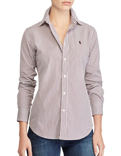 Polo Ralph Lauren Striped Button-Down Shirt-RED MULTI-4
