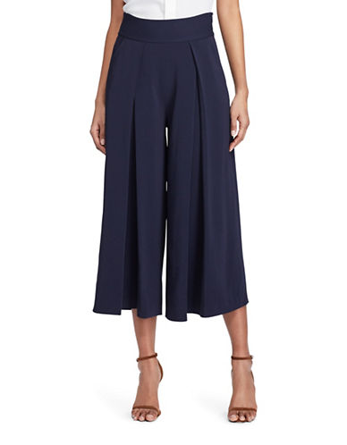 Polo Ralph Lauren Pleated Wide Leg Pants-BLUE-6