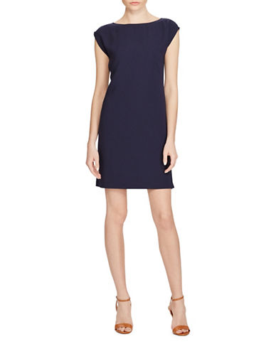 Polo Ralph Lauren Crepe Cap Sleeve Dress-BLUE-14
