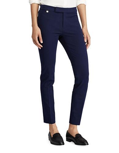 Lauren Ralph Lauren Stretch Twill Mid-Rise Skinny Pants-NAVY-8