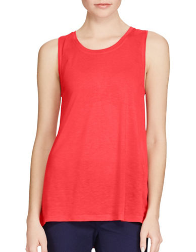 Lauren Ralph Lauren Jersey Scoop Neck Top-RED-Small 89254825_RED_Small