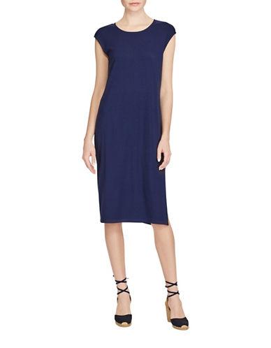 Lauren Ralph Lauren Midi Jersey Dress-INDIGO-Small