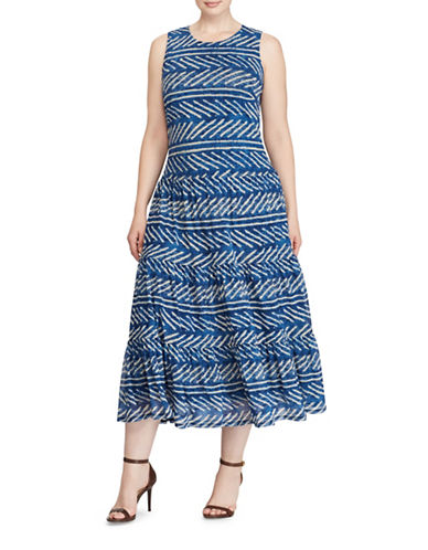 Lauren Ralph Lauren Sleeveless Maxidress-BLUE MULTI-X-Small
